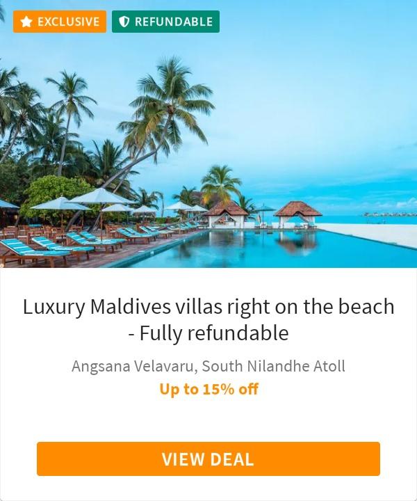 Luxury Maldives villas right on the beach - Fully refundable