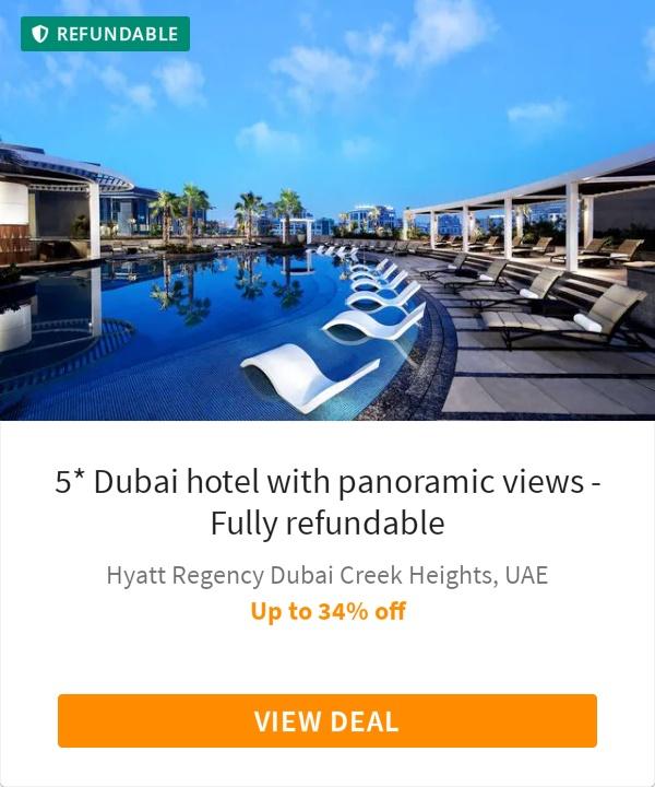 5* Dubai hotel with panoramic views - Fully refundable