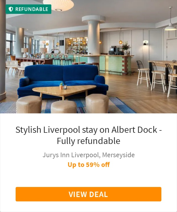 Stylish Liverpool stay on Albert Dock - Fully refundable