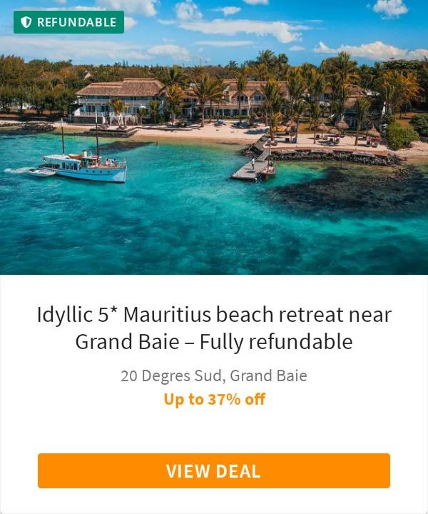 Idyllic 5* Mauritius beach retreat near Grand Baie – Fully refundable