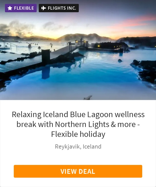 Relaxing Iceland Blue Lagoon wellness break with Northern Lights & more - Flexible holiday