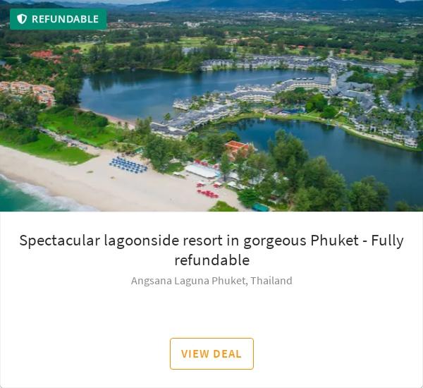 Spectacular lagoonside resort in gorgeous Phuket - Fully refundable