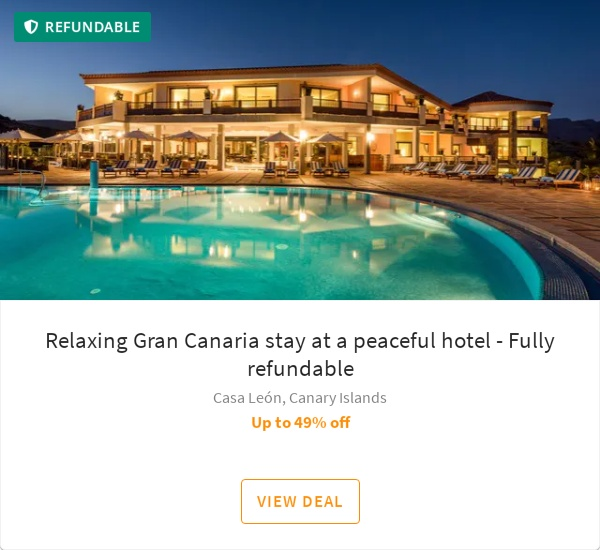 Relaxing Gran Canaria stay at a peaceful hotel - Fully refundable