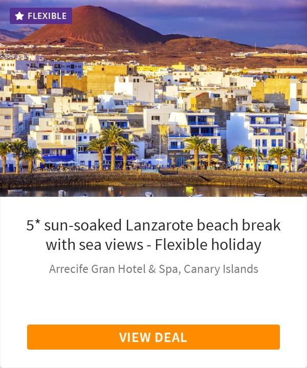 5* sun-soaked Lanzarote beach break with sea views - Flexible holiday